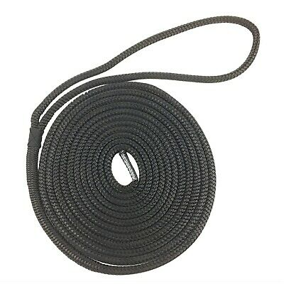14mm Black Pre-Spliced Polyester Braided Docklines x 10 Metres, Mooring Ropes