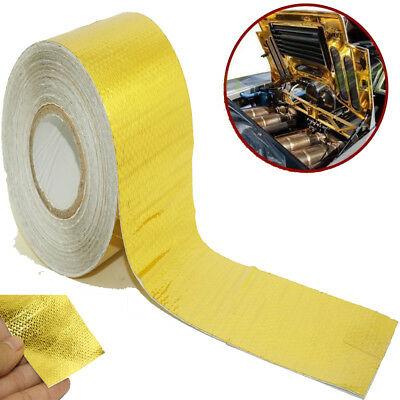 Heat Sleeve Insulating Hose Tube Wrap Reflective Shield Adhesive Seam 50mm x 10m
