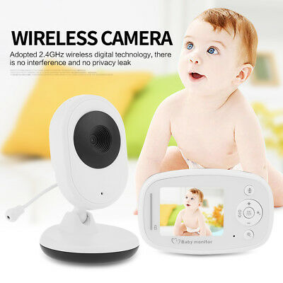 "2.4"" LCD Digital Baby Monitor Audio Wireless Video Security Camera Night Vision"