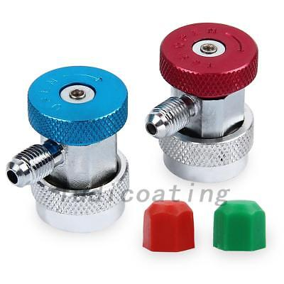 Portable R134a Quick Couplers Adapter A/C Air Condition High Low Gas Connector