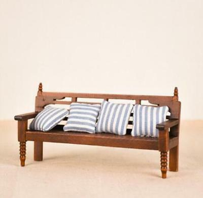 1:12 Dollhouse Miniature Furniture Living Room Garden Bench Couch W/Cushions ♫