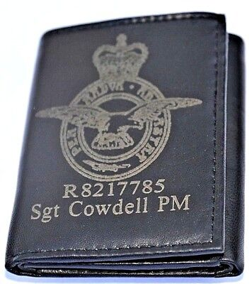 Royal Air Force Army Personalised Gift Wallet Engraved With Any Name & Number