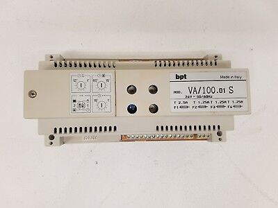 BPT 62700040 VA/100.01 S alimentatore video Serie 100 power supply 24VAC 50/60Hz