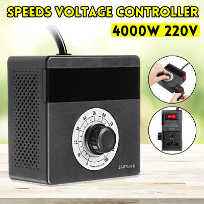 8A 220V-240V AC Variable Dial Router Speed Controller Control Motor Rheostat
