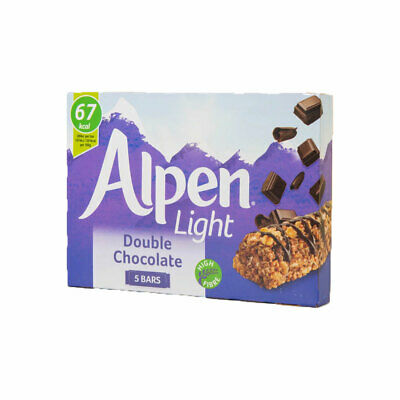 Alpen Light Double Chocolate Cereal Bars 5 Pack 105g