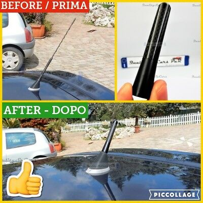 Antenna MINI cooper D S One R countryman corta VERA FIBRA CARBONIO radio Jhon co