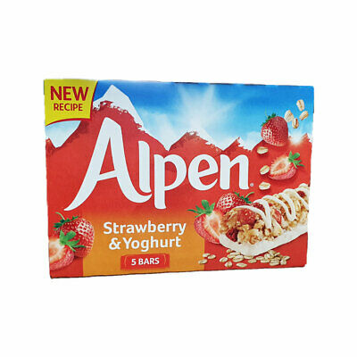 Alpen Strawberry and Yoghurt Cereal Bars 5 Pack 145g