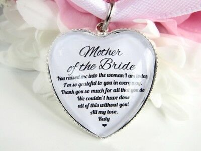 Mother Of The Bride Quote Gift Thankyou Bouquet Charm Personalised From Bride