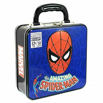 New Marvel The Amazing Spider-Man Square Tin Tote Lunch Box Spiderman Official