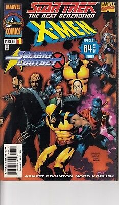 STAR TREK THE NEXT GENERATION  X MEN SECOND CONTACT 1.. NM-...1998...Bargain!