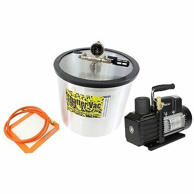 5 Gallon SVac Vacuum Chamber and 3CFM Single Stage VE115 Pump Kit, Degass, Purge