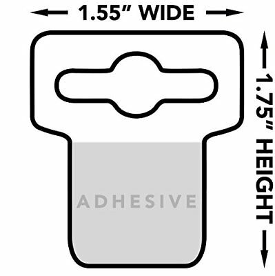 Hang Tabs for Store Display, Euro Slot Hole with Large Adhesive | Clear Plastic