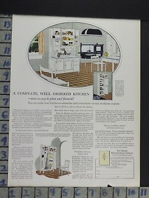 1924 Hoosier Cabinet Kitchen Housewife House Home Decor Vintage Art Ad  Cn51