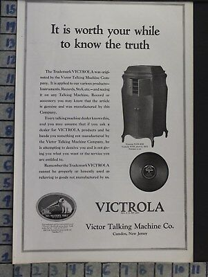 1920 Victor Victrola Phonograph Xvii Record Music Dance Sing Art Ad  Bt27