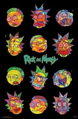 RICK AND MORTY - VAPORWAVE POSTER 22x34 - TV SHOW 16421