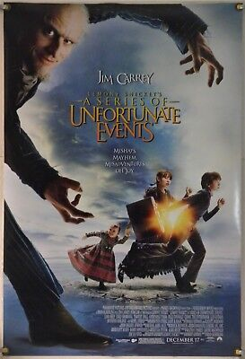 A Series Of Unfortunate Events Ds Rolled Orig 1Sh Movie Poster Jim Carrey (2004)