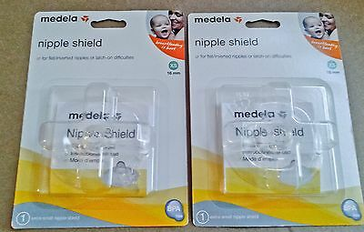 Medela nipple shield 2-pack (extra-small/16mm) *New *Free Shipping (exp. 11/16)