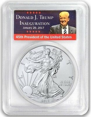 2018-(W) $1 Silver Eagle PCGS MS70 FIRST STRIKE West Point Trump Label Low Pop