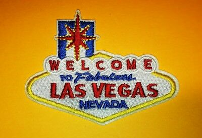 Welcome To Fabulous Las Vegas Embroidered Iron On Patch
