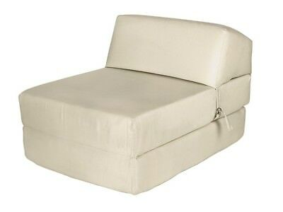 New ColourMatch Colour Match Single Bed Fabric Chairbed Chair Cotton Cream Futon