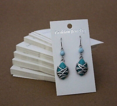 Package Of 100 White Earring Cards 2 x 3 1/2 Inch (Fashion Jewelry)