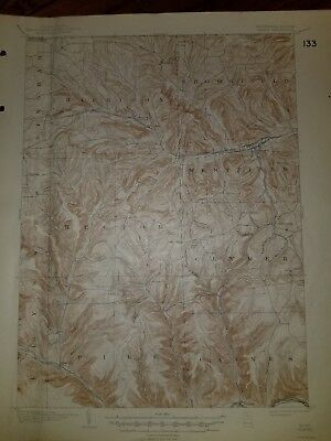 USGS Topographical map, Gaines, PA/NY Edition of October 1900, Reprinted in 1944