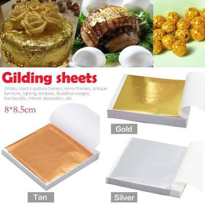 DIY 100 Sheets Gold Foil Leaf Leaf Gilding Handicrafts Craft Paper Decoration