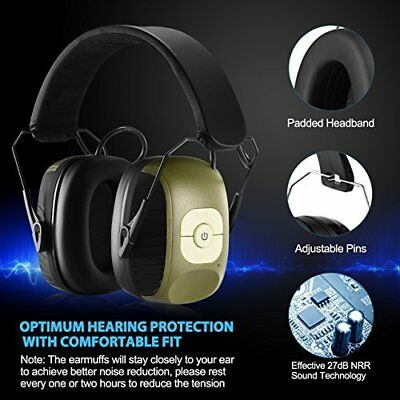 MPOW Earmuffs Shooting Electronic Gun Hunting Hearing Noise Protection Ear Muffs