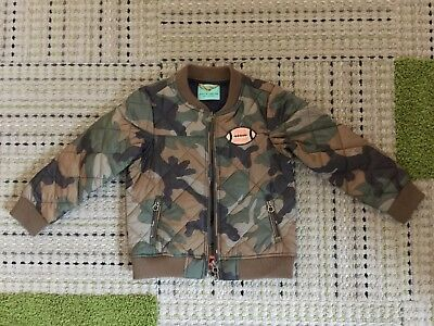 Scotch and Soda Shrunk Boys Camo Bomber Jacket. Size 4. NWOT