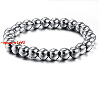 Wholesale 100pcs stainless steel  ball Chain handmade Charms bracelet Women 6mm