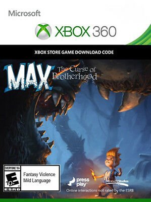 Max The Curse of Brotherhood Digital Download [XBOX 360] - Instant Dispatch!