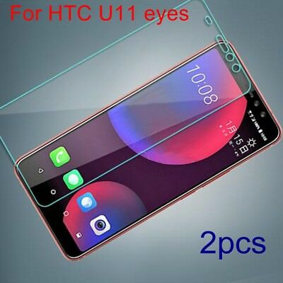 2X Genuine Explosion-proof Tempered Glass Film Screen Protector For HTC U11 eyes