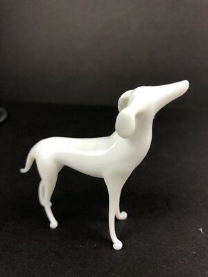 Vintage Blown Mercury Glass Dog Greyhound Made In Germany Hollow