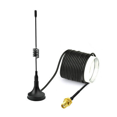 TWO WAY HAM Radio SMA Magnetic Mount Base Antenna Aerial 1 5m for