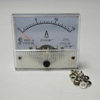 DC 0-15A 85C1 Class 2.5 Analog Amp Panel Meter Gauge HQ Current Ammeter