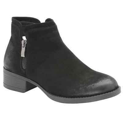 Ladies Dolcis Roddy Western Chelsea Memory Foam Mid Heel Ankle Boots Black Uk 4