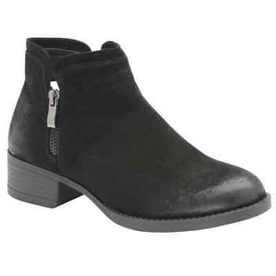 Ladies Dolcis Roddy Western Chelsea Memory Foam Mid Heel Ankle Boots Black Uk 8