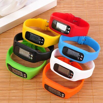 Digital Pedometer Walking Step Distance Calorie Counter Run Fitness Wrist Watch