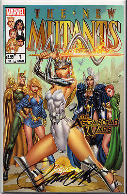 NEW MUTANTS: DEAD SOULS #1B SIGNED BY J. SCOTT CAMPBELL ~ JSC Exclusive w/COA