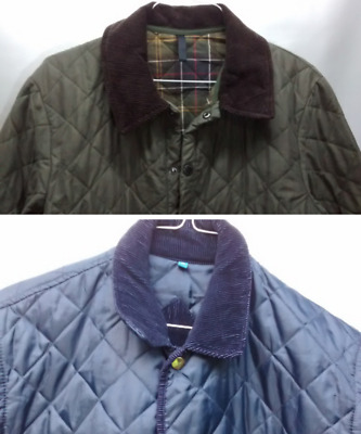 Barbour Liddesdale - Greem Mountain Quilted Jacket Lot of 2 Men's  Sz M