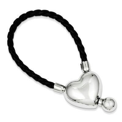 925 Sterling Silver Heart Toggle Key Chain - New