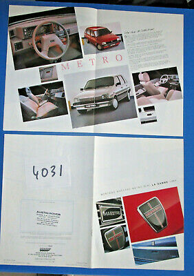 N°4031 / catalogue AUSTIN ROVER montego,maestro,mini,metro  la gamme 1989 france