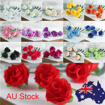 50x Artificial Fake Roses Silk Flower Wedding Party Bridal Bouquet Home Decor