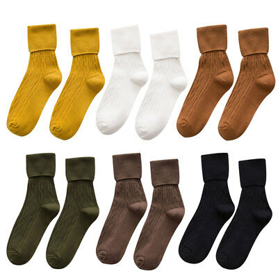 Women Girls Spring Summer Solid Color Soft Cotton Casual Ankle High Socks US