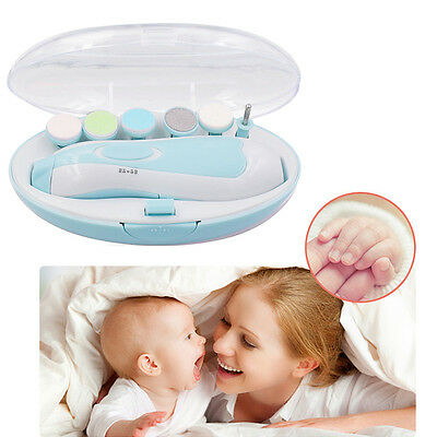 Electric Baby Nail File Tool Trimmer For Newborn Toddler Toes Care Fingernail