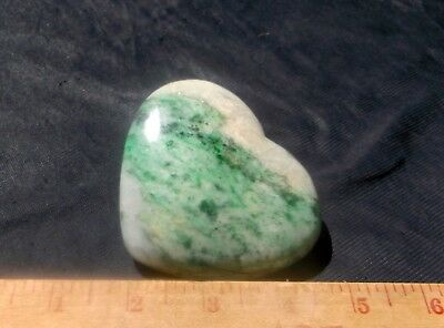 JADEITE STUNNING HUGE UNTREATED PUFFY HEART 230 GRAMS or 8.2 OZ SOUTH EAST ASIA
