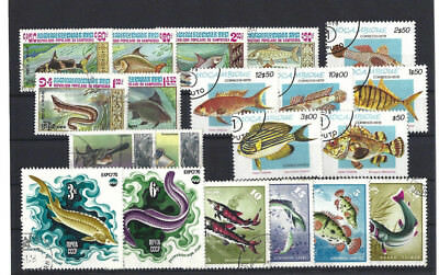 Briefmarken  - Lot - Motiv - Fische (4)