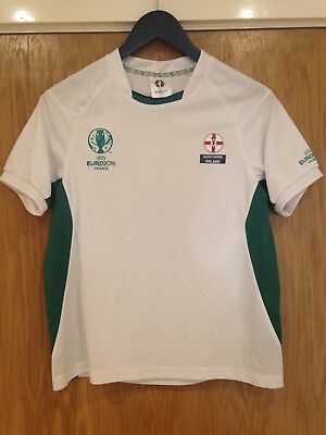 Northern Ireland Boy's Euro 2016 Ages 11–12 Yrs Green & White T-Shirt