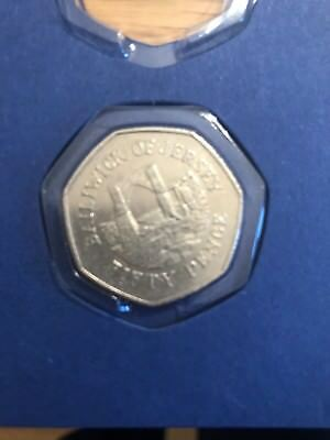 Collectable 50p Coin - Grosnez Castle, Bailiwick of Jersey (1997)