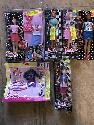 HUGE Lot of New Barbie Fashionistas Dolls and Accessories 5 Dolls & Clothes Toys